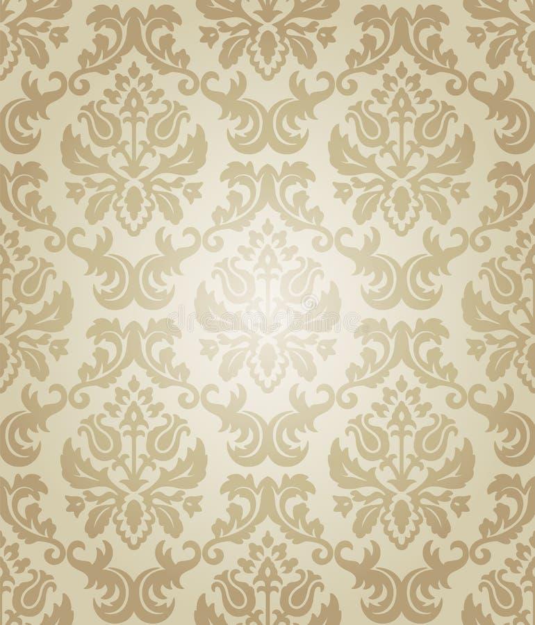 Download Wallpaper beige flow stock illustration. Illustration of floral - 17825287