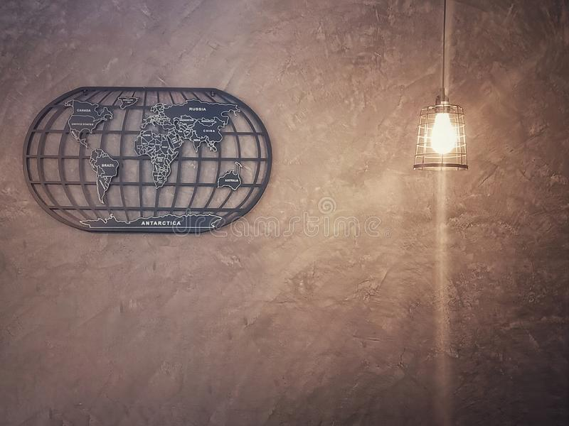 Wallpaper. Cement, walls, light, map royalty free stock photo