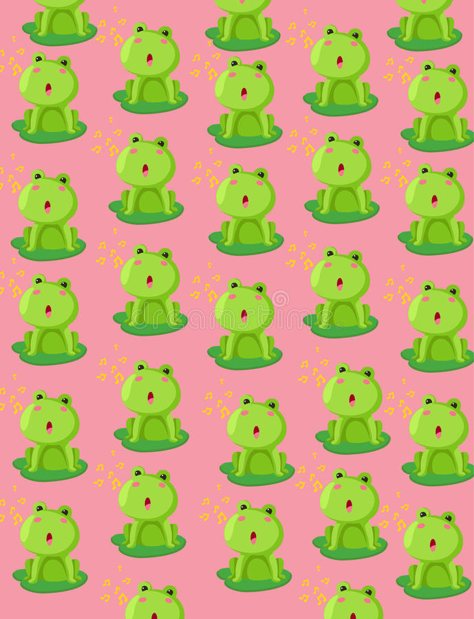 Download Wallpaper cute frog stock vector. Image of child, delicate - 28149415