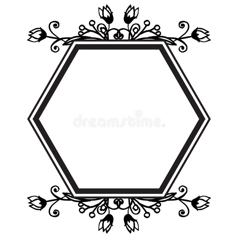 Wallpaper decoration flower frame, various shape of card, style elegant. Vector royalty free illustration