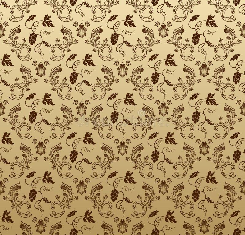 wallpaper för tappning för bakgrundsdruvor seamless royaltyfri illustrationer