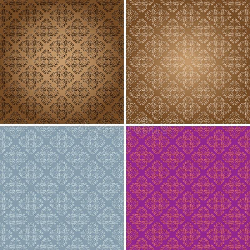 wallpaper för tappning för originell modell för design seamless stock illustrationer