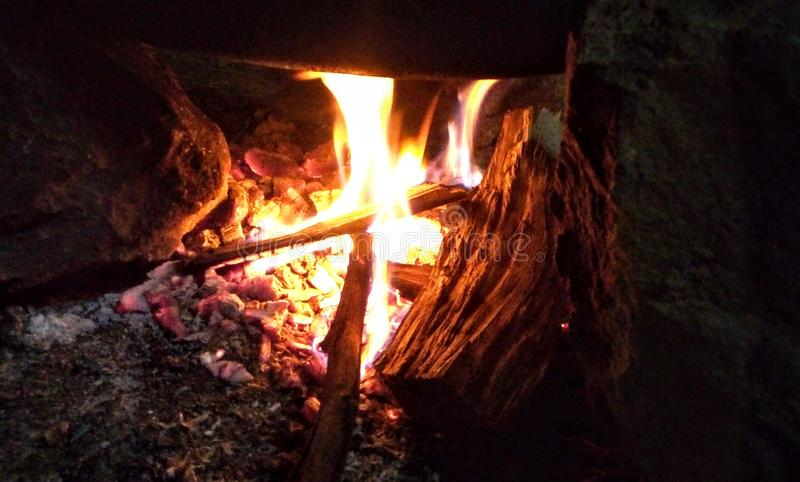 Wallpaper flaming borne fire camping royalty free stock image