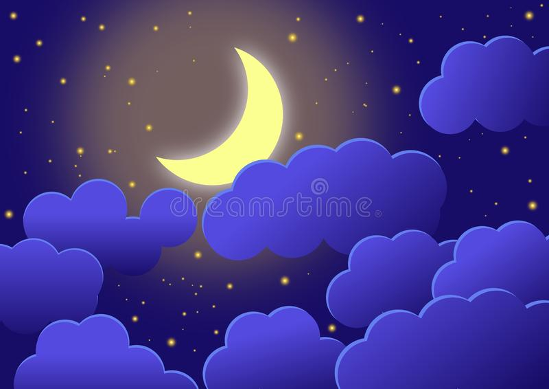 Moon Clouds and Stars PNG Clip-Art Image | Gallery Yopriceville -  High-Quality Images and Transparent PNG Free Clipart