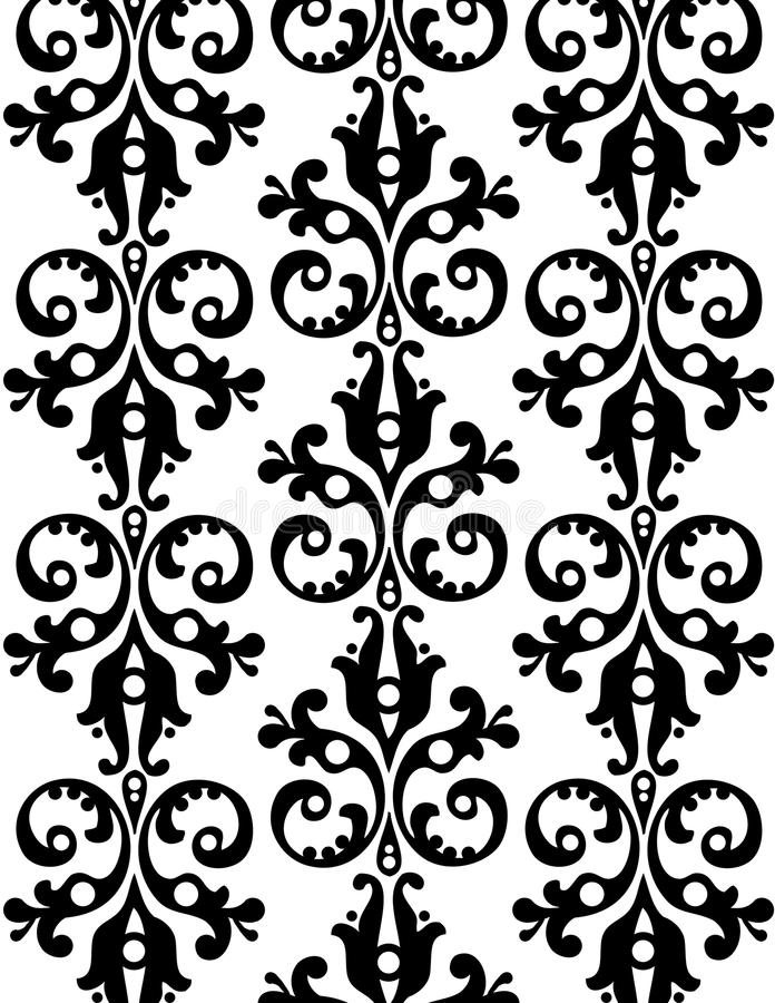 Wallpaper With Ornaments Royalty Free Stock Photography