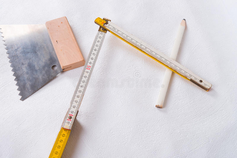 Pasting table stock photos