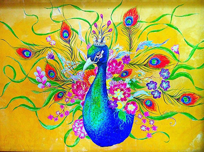 Wallpaper. Peacock backgound royalty free stock photo