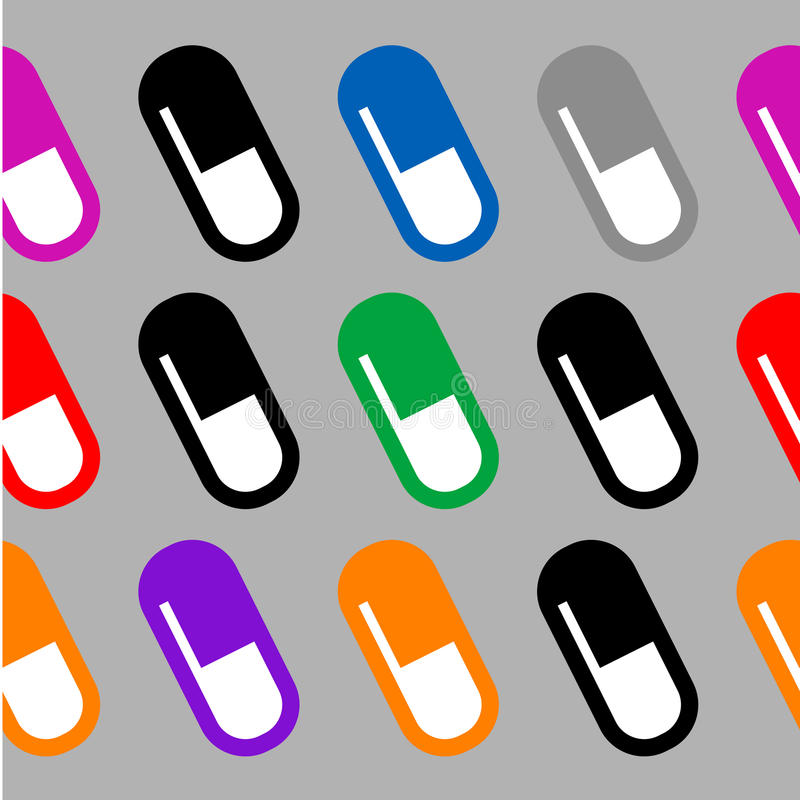 Download Wallpaper of pills stock vector. Image of seam, ornate - 23517147