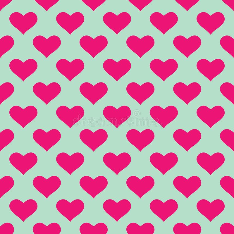 Wallpaper with pink hearts vector illustration