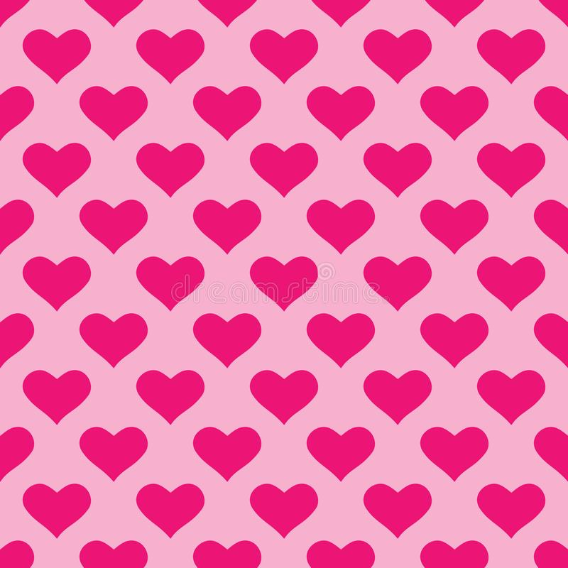 Wallpaper with pink hearts stock illustration