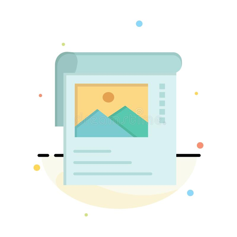 Wallpaper, Poster, Brochure Abstract Flat Color Icon Template royalty free illustration