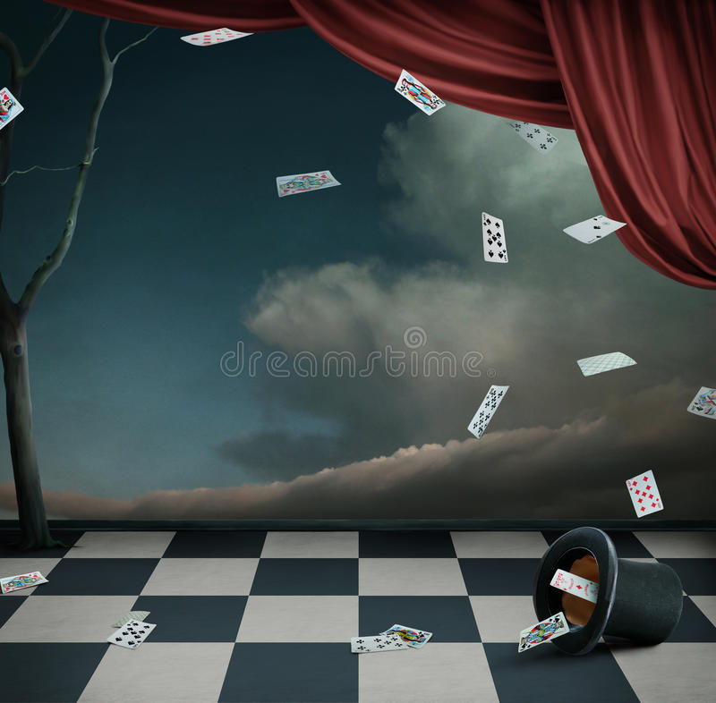 Wallpaper or a poster Theater royalty free illustration