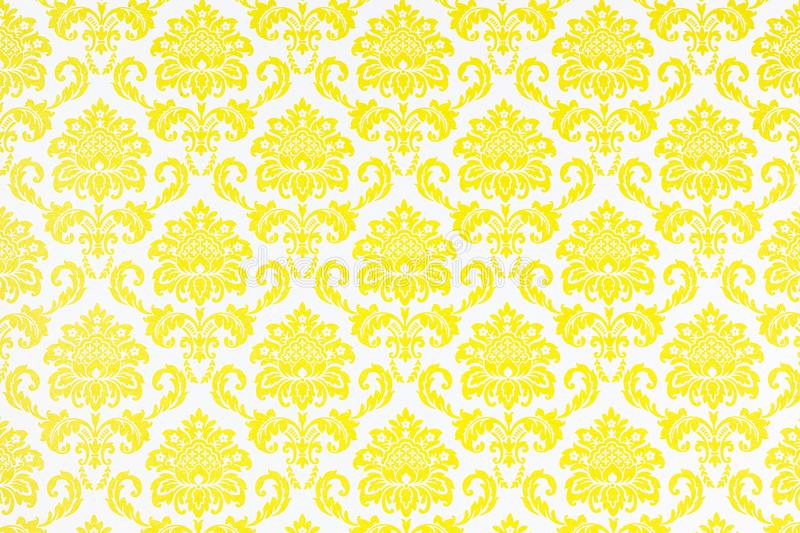 A wallpaper of a repeat botanic pattern. stock photo
