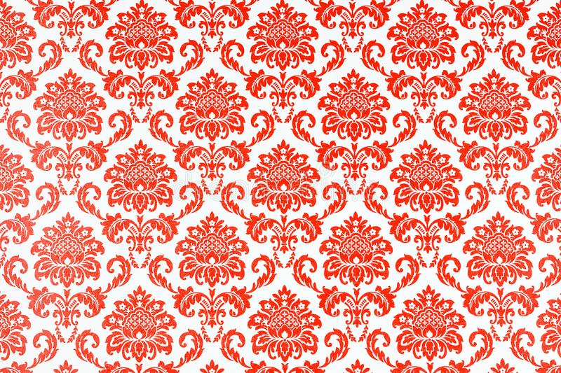 A wallpaper of a repeat botanic pattern. royalty free illustration