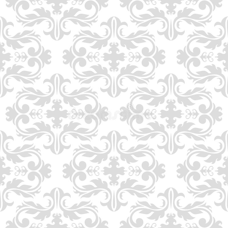 Seamless pattern with white and gray wallpaper ornaments vector illustration