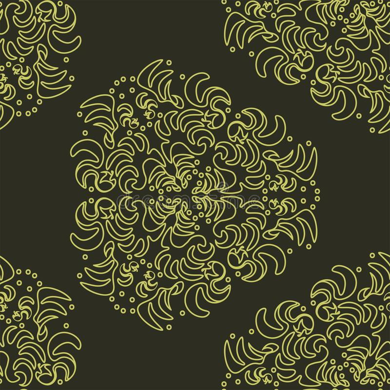 Wallpaper in the style of Baroque, damask. A seamless vector background stock illustration