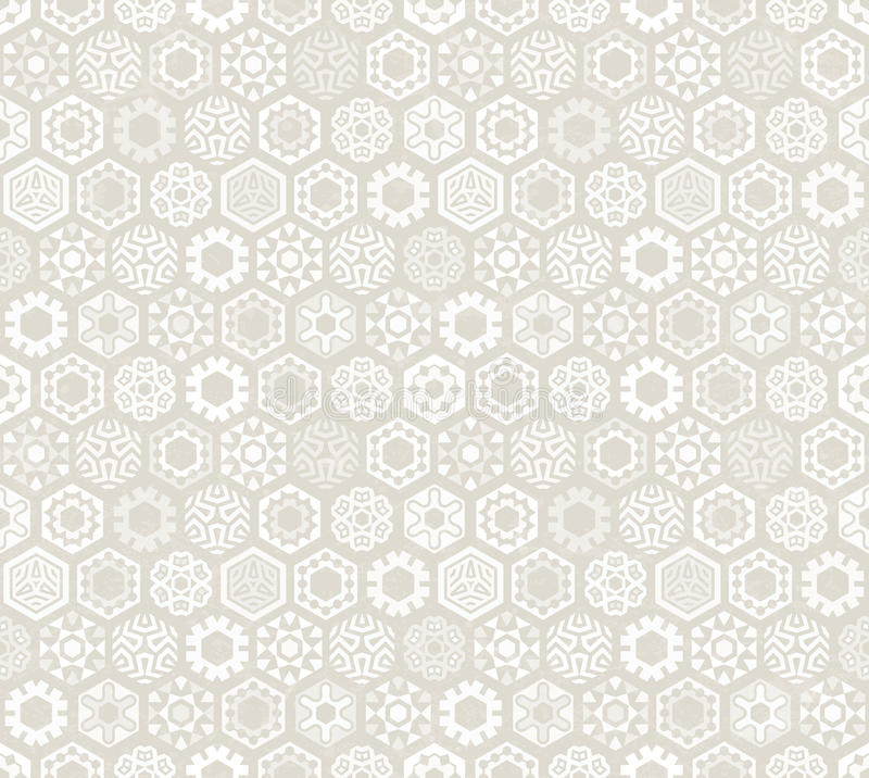Wallpaper with stylized snowflakes. stock illustration
