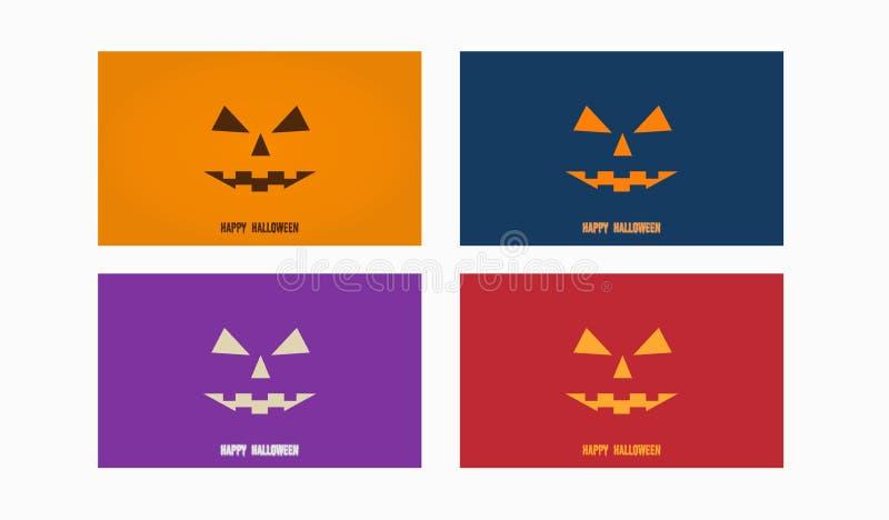 Wallpaper template with halloween design stock illustration