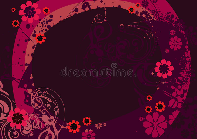 Wallpaper with vegetative a graceful royalty free illustration