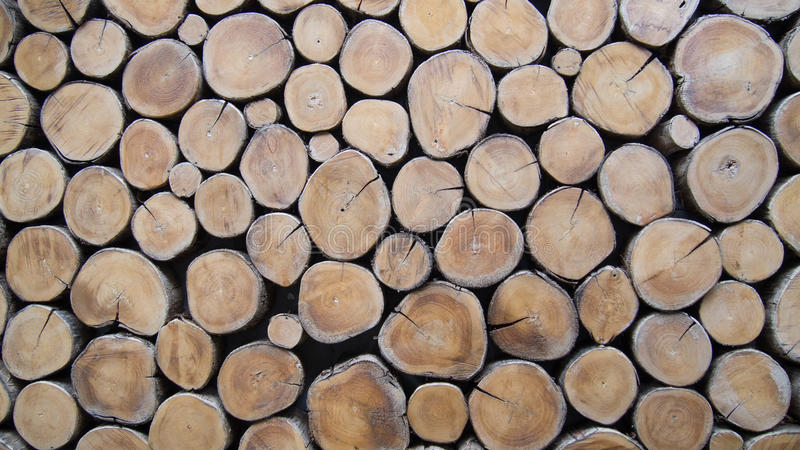 Wallpaper of wood logs. Stacking up stock photography