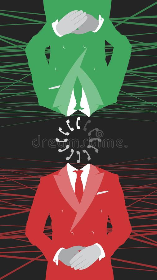 So busy, then free. Wallpaper stock illustration