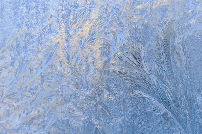 Wallpapers frost on the glass stock photography