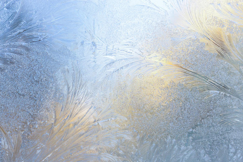 Wallpapers frost on the glass royalty free stock photography