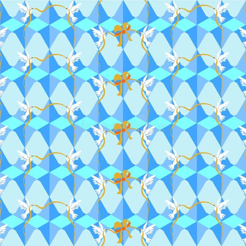 Wallpapers palomas ilustración del vector