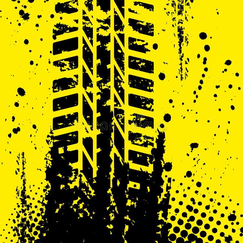Wallpapper jaune de voie de pneu illustration stock