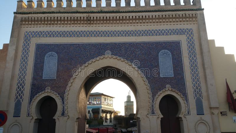 The walls of the ancient city of Fez ,morocco stock images