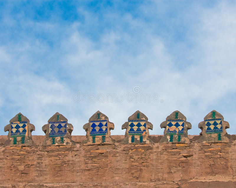 Walls of an ancient city of Khiva, Uzbekistan royalty free stock photography
