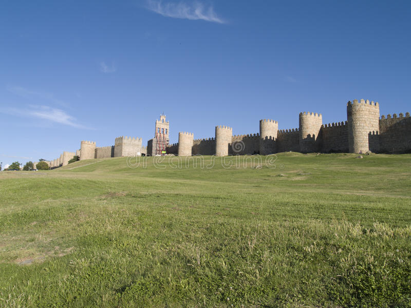 Download Walls of Avila stock image. Image of avila, landscape - 17466489