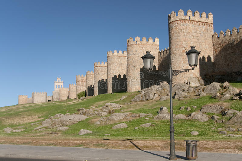 Download Walls of Avila stock image. Image of medieval, stone - 29054871
