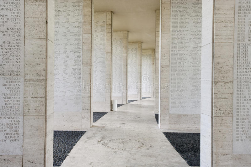 Walls bearing names of missing soldiers in Fort Bonifacio, Manila, Philippines stock photo