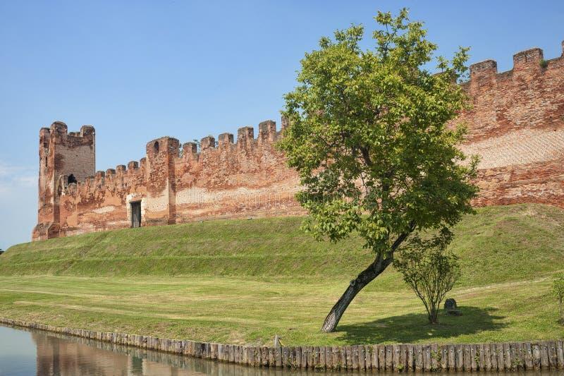 The walls of Castelfranco Veneto (Treviso) royalty free stock photography