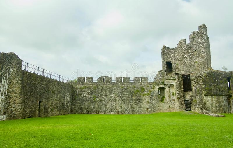Walls of the castle. Dinefwr Castle near Llandeilo Carmarthenshire Wales united Kingdom royalty free stock images