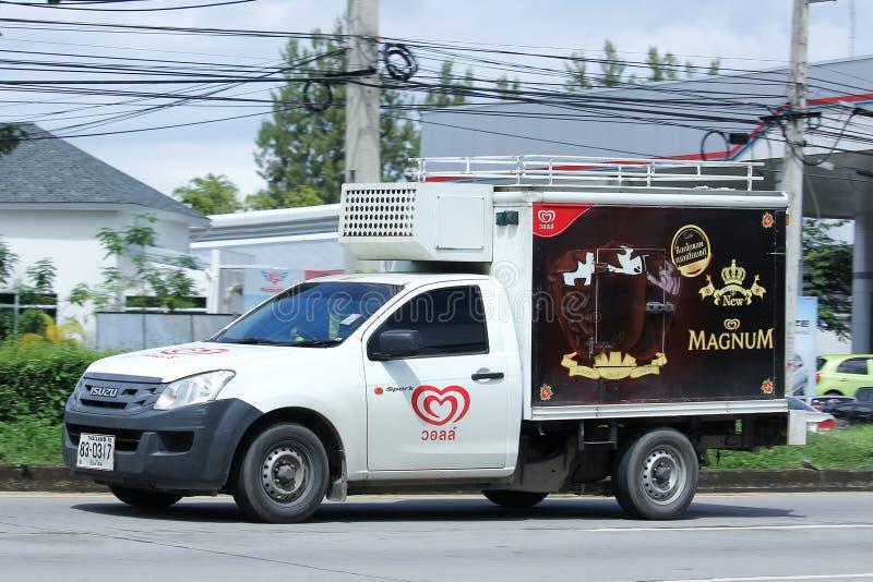 Walls Company被冷藏的容器微型卡车  免版税库存图片