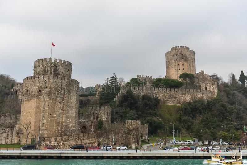 Walls of Constantinople, Istanbul, Turkey stock images