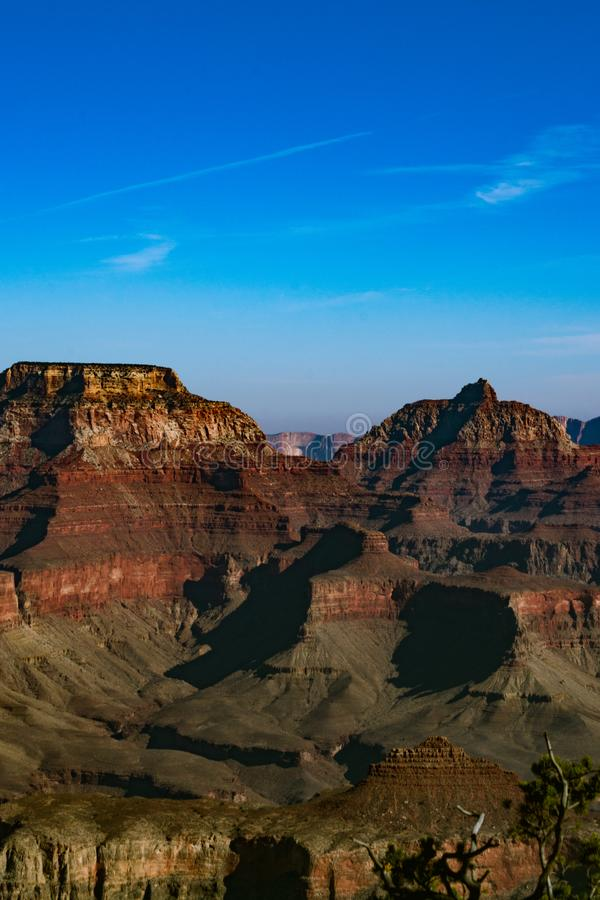 Grand canyon walls in color. stock image