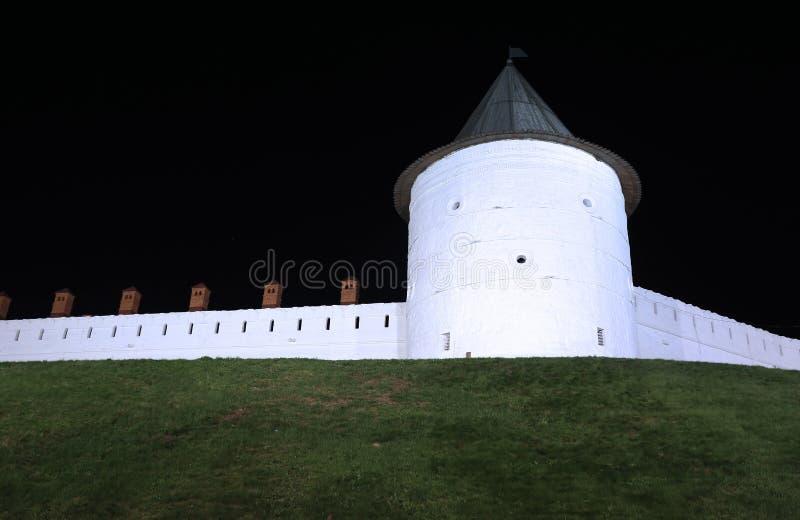 The walls of the Kazan Kremlin stock image