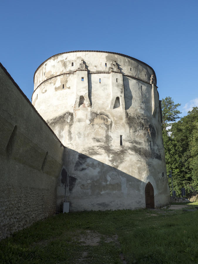 Walls of the medieval city of Brasov, Romania royalty free stock photos