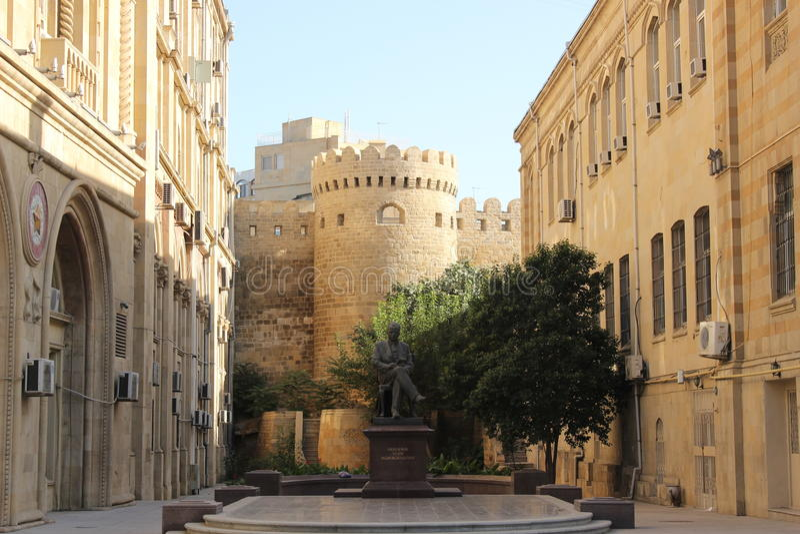 Walls of Old Baku, Azerbaijan, architecture, castle royalty free stock photo