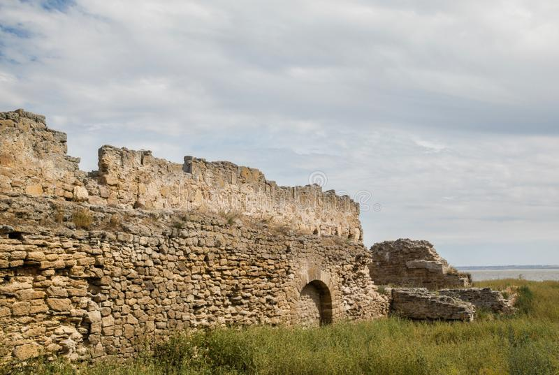 The walls of the old fortress. Akkerman in Ukraine royalty free stock images