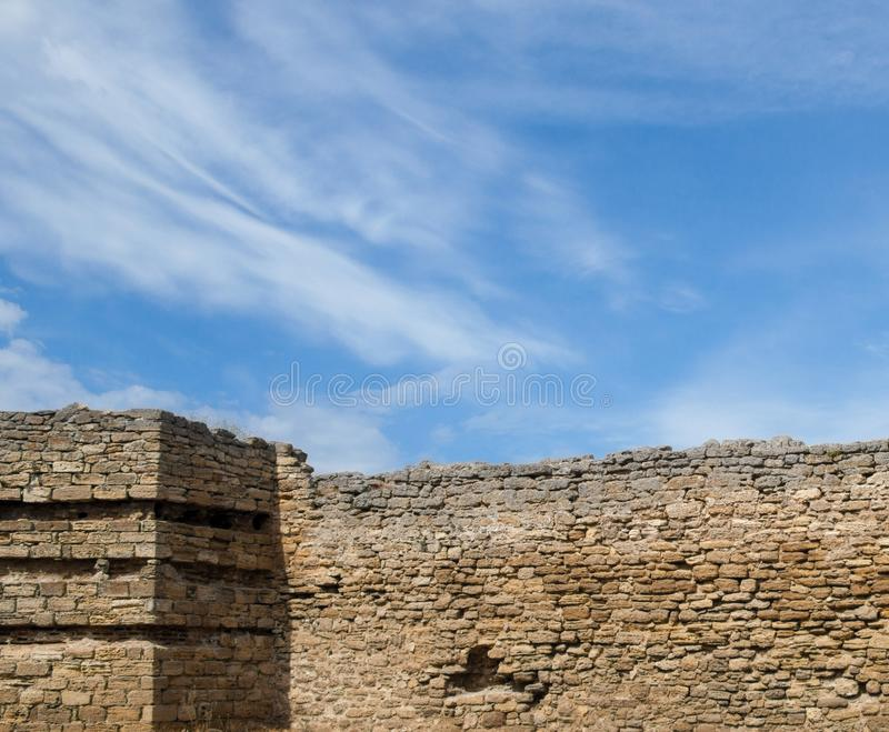 The walls of the old fortress. Akkerman in Ukraine stock image
