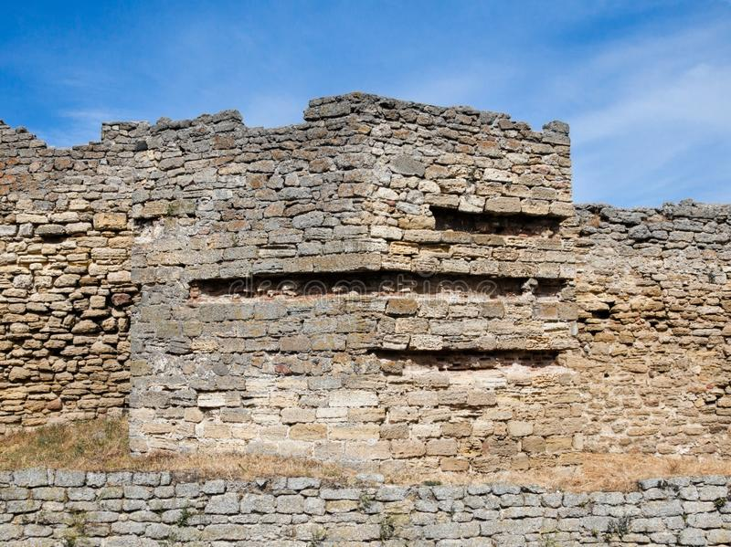 The walls of the old fortress. Akkerman in Ukraine stock photo