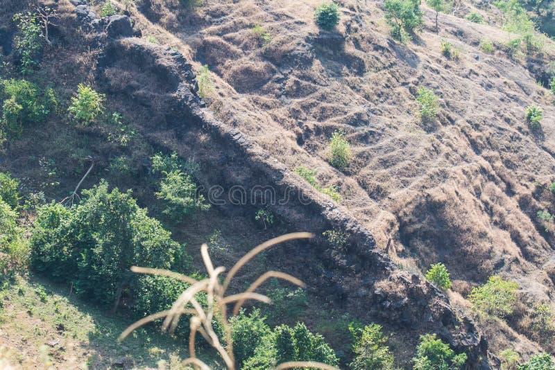 Walls and Ramparts of Mandavgarh Fort. Walls and Old Ramparts of historic Mandavgarh Fort at Mandu Mandav Dhar District near Indore Madhya Pradesh stock image