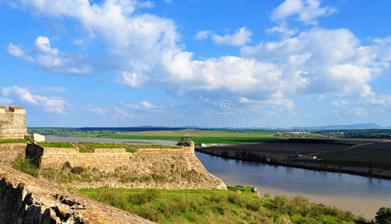 The walls and the river royalty free stock image