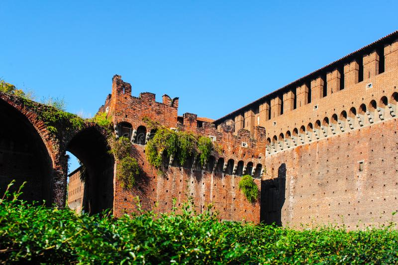 The Walls of Sforza Castle royalty free stock image