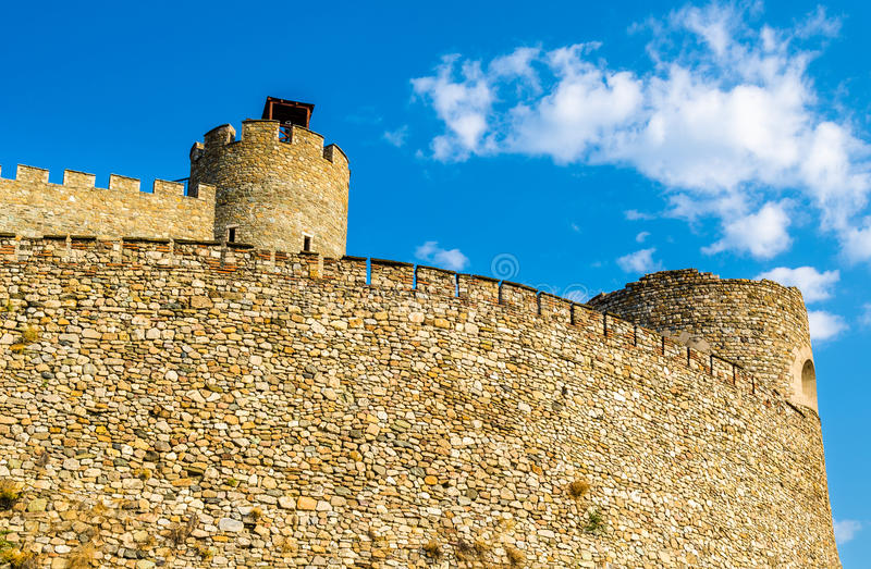 Walls of the Skopje Fortress stock photo