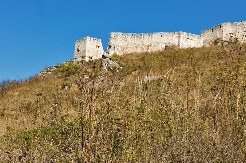 Walls of Spis Castle in Slovakia. royalty free stock photography